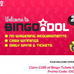 bingo idol latest welcome offer promotion